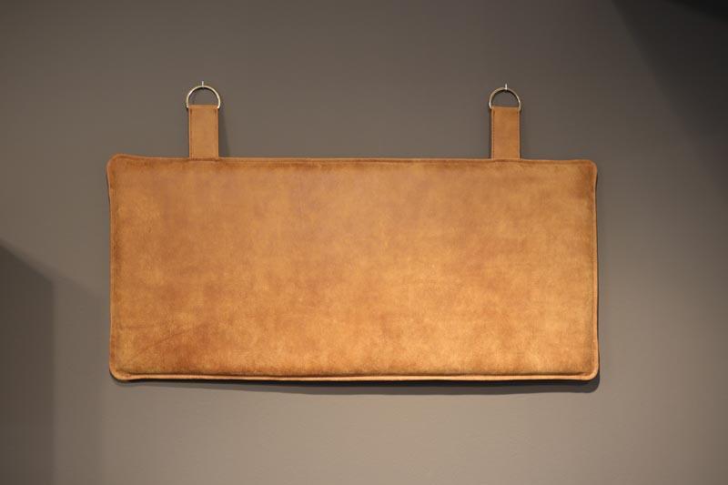 Ryghynde sengegavl i læder